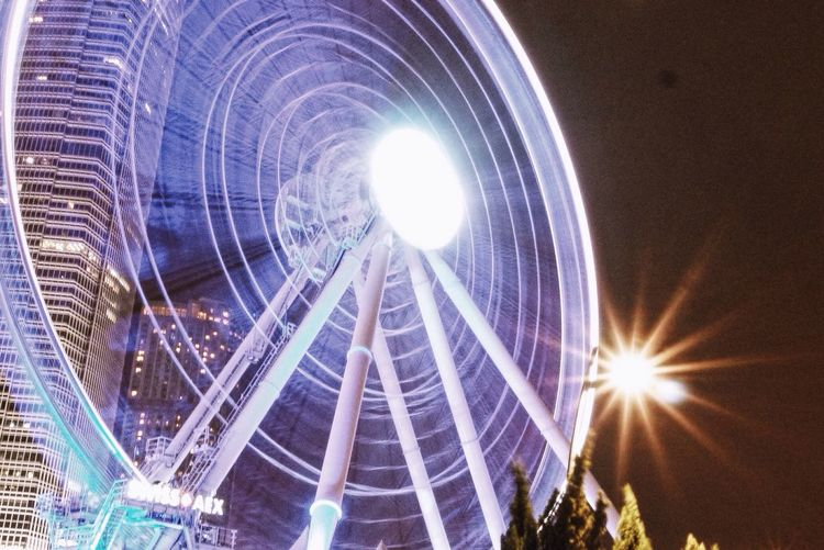 Explorehk Wheel Hk Reservation Wheel Nightphotography Night Lights Architecture City Life