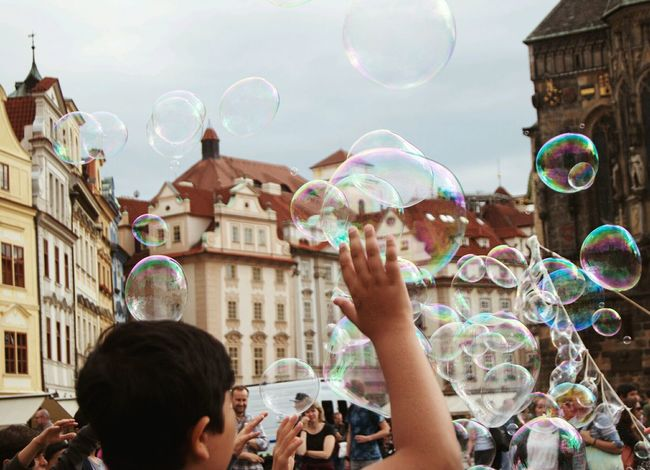 Prague 2016 Bubbles Child Trip Bubble Fun People Motion Architecture Happiness First Eyeem Photo