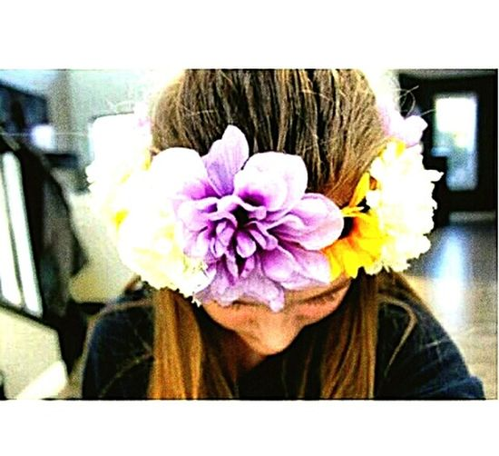 Really don't care 💜💙 Flowers Love ♥ Hairstyle First Eyeem Photo