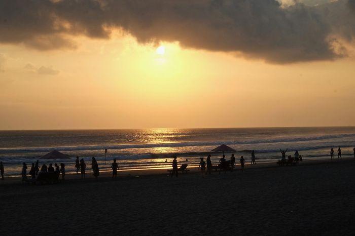 Beach Beauty In Nature Horizon Horizon Over Water Land Sand Scenics - Nature Sea Sky Sun Sunset Water