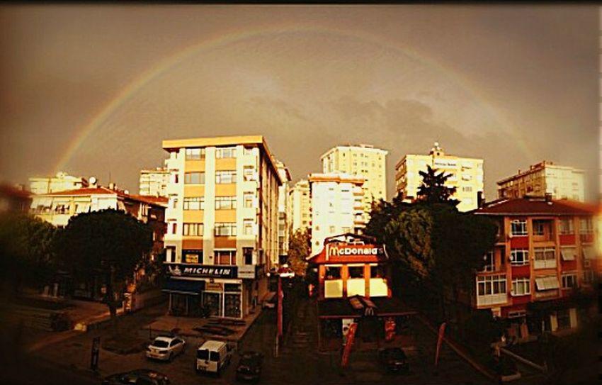 My office window... Rainbow PhotoByMuratGul