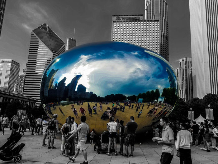 Chicago Colors The Bean Chicago Architecture Focus Outdoors People Sky The Bean