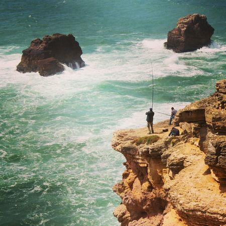Fishermen Taking Photos Portugal Portugaloteuolhar