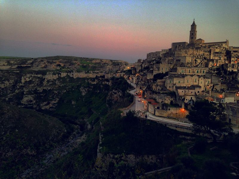 Architecture Built Structure Building Exterior History Sky Travel Destinations High Angle View City Tourism Cityscape Outdoors Ancient Nature No People Ancient Civilization Fort Day Eyemphotography Matera Street Photography Matera Sunset_collection Italy Photography IPhoneography Sassidimatera