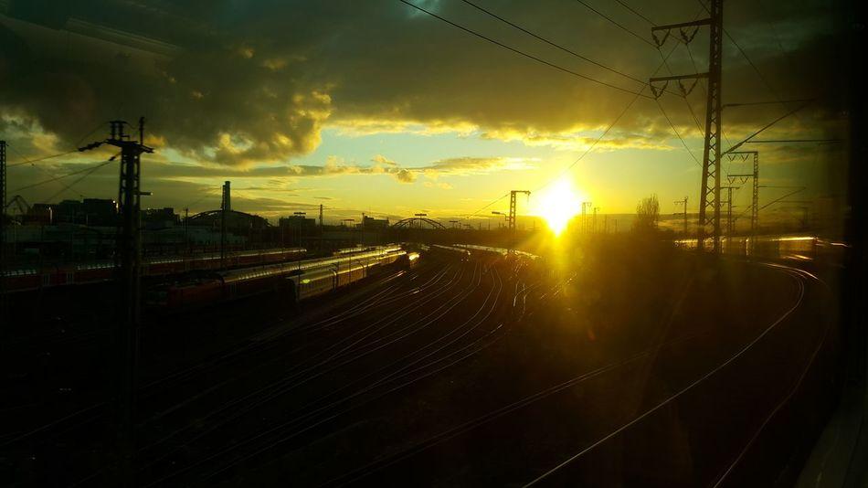 Cloud - Sky Sunset Outdoors Electricity Pylon Sky Day No People Railway Train City Train Tracks
