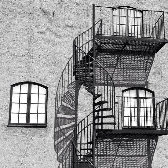 Blackandwhite Schattenspiel  The World Needs More Spiral Staircases Architecture