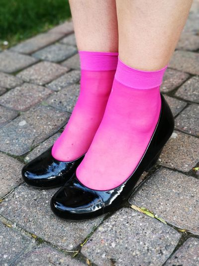 Pink socks are in vogue! Cobblestones Street Photography Pink Socks Unedited Color Photo Black Patent Leather Shoes Woman's Feet Pink Socks Are In Vogue Low Section Standing Human Leg Pink Color Close-up Human Foot Feet Footwear Pair Things That Go Together The Mobile Photographer - 2019 EyeEm Awards