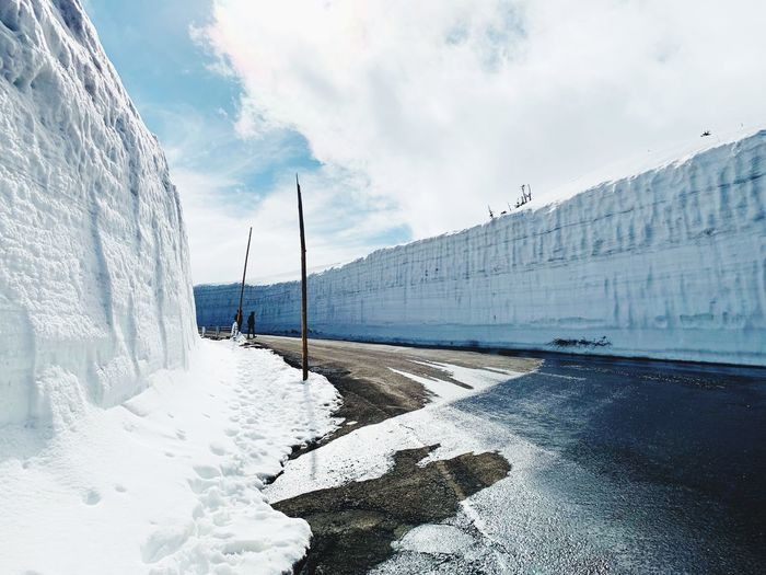Snow wall in
