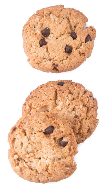 Baked Chocolate Chocolate Chip Chocolate Chip Cookie Clipping Path Close-up Cookie Cut Out Day Food Food And Drink Freshness Homemade Indulgence No People Raisin Ready-to-eat Studio Shot Sweet Food White Background