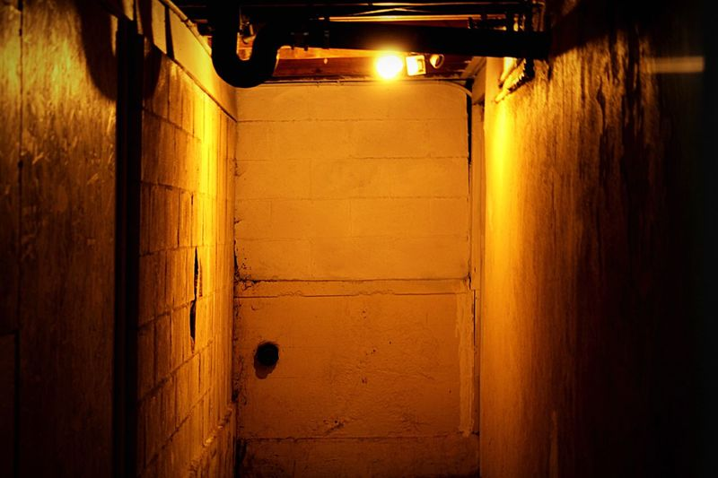 Dungeon Locked Door Locked Underground Passage Hidden Pipes Closed Door Behind Closed Doors Brick Tunnel