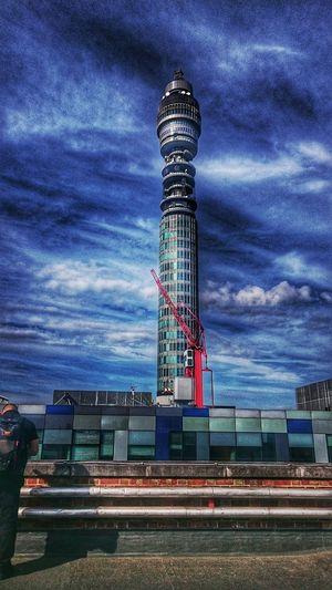 BT Tower London London England Moody Sky