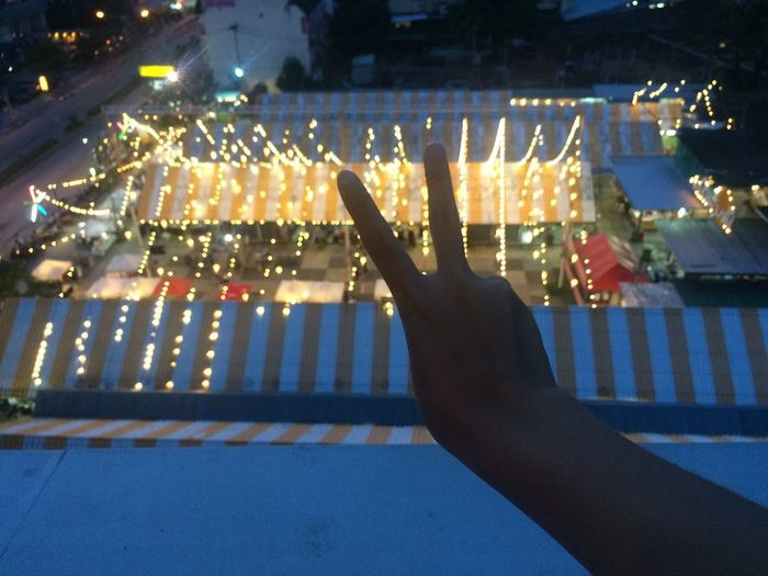 Illuminated Human Hand Human Body Part Night Hand Real People One Person City Glowing Human Finger Finger Nature