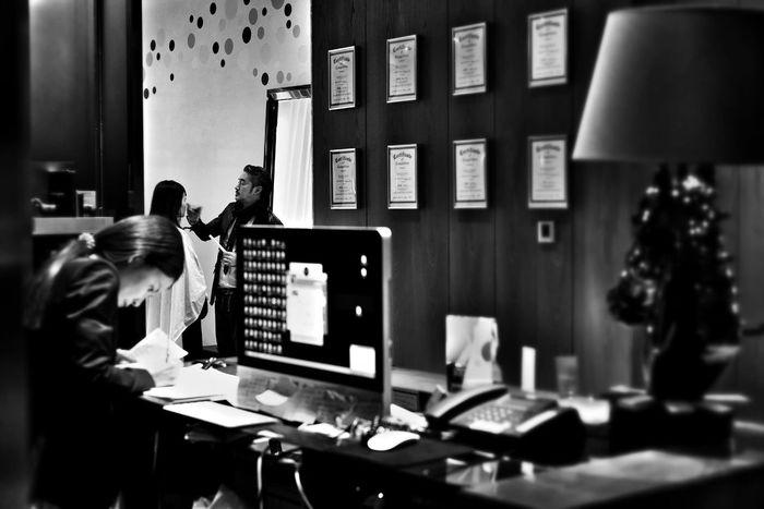Black And White Guangzhou Barber Shop Fujifilm