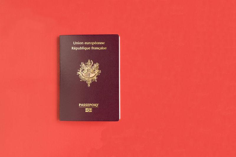 Passeport français Document Europe Francais France French Identity Identite Officiel Passeport Travel Trip Voyage