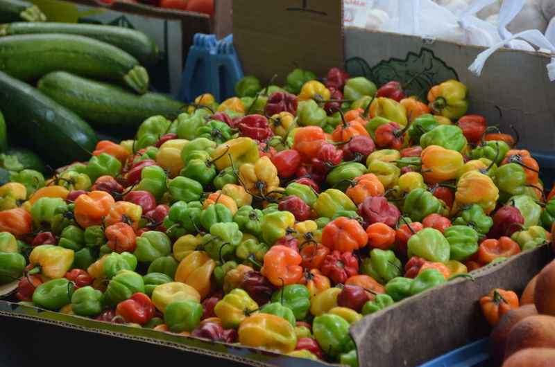 Bell Peppers For Sale At Market