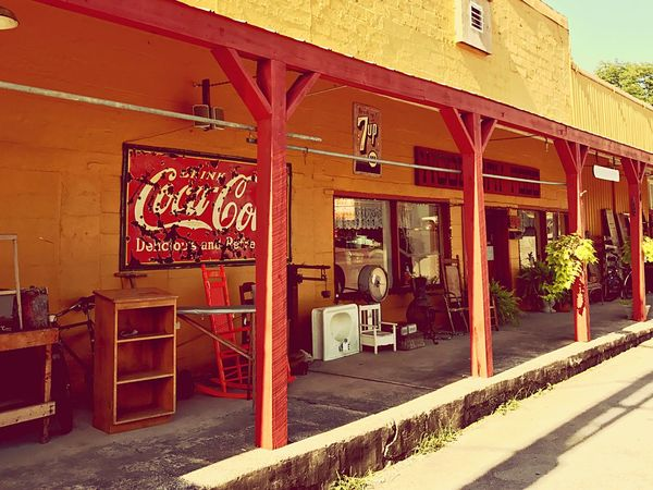Built Structure Architecture Building Exterior Day No People Outdoors Awning City Rural America Americana Tennessee Coca-Cola, Label/logo/sign American Artefacts Vintageshop Shopfront
