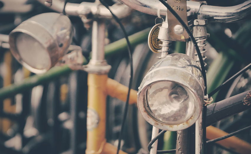 Bicycle Bicycles Lamp Light Antique Hobby Handle Up Close Street Photography The Street Photographer - 2016 EyeEm Awards