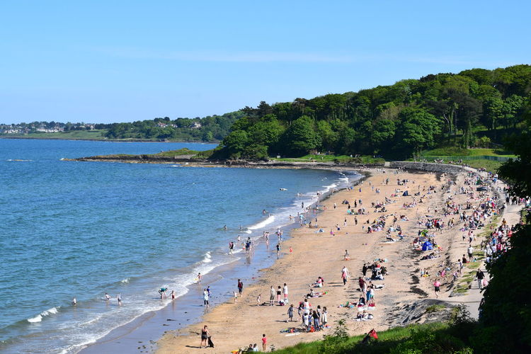 Tourists enjoying at beach