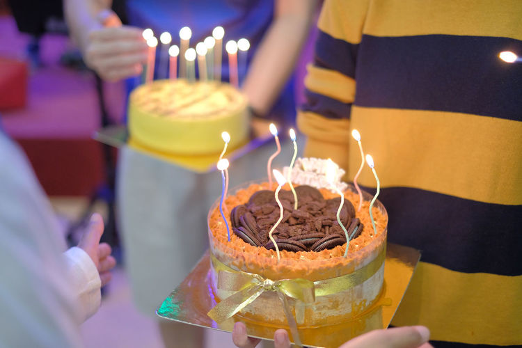 Hand Candle Real People Cake Sweet Food Human Hand Fire Burning Sweet Dessert Food And Drink Birthday Human Body Part Celebration Birthday Cake Food Birthday Candles Anniversary Baked Holding Temptation