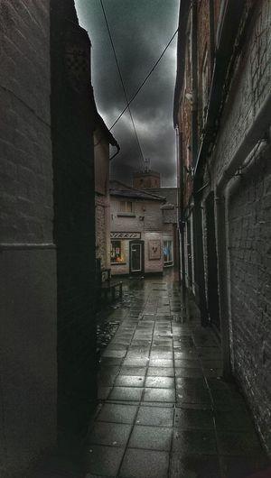 Walkway in city