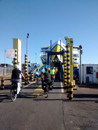 Ferry Cycling Multiple People Women Active Lifestyle  Yellow Transportation Blue Mode Of Transport Clear Sky Day Boat Bicycle Cycle Touring It's About The Journey