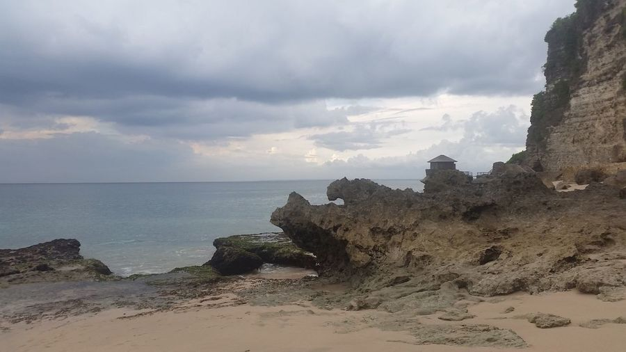 Sea Sky Horizon Over Water Rock Formation Rock - Object Nature Scenics Beauty In Nature Water Tranquility Cloud - Sky Tranquil Scene Beach Outdoors Cliff No People Day