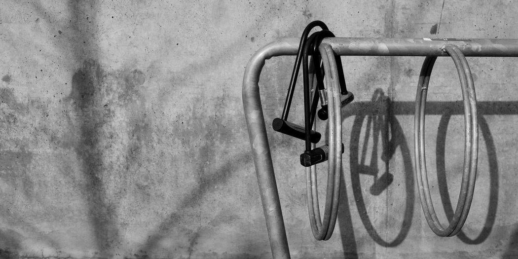 Bike Rack Blackandwhite Close-up Day Hanging Indoors  Metal No People
