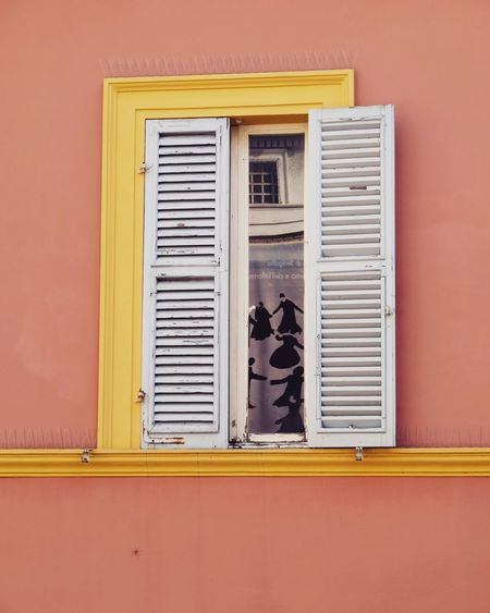 Mario Giacomelli Window Window View Windows Windows And Doors EyeEm Selects Window Shutter No People Architecture Day Yellow Building Exterior