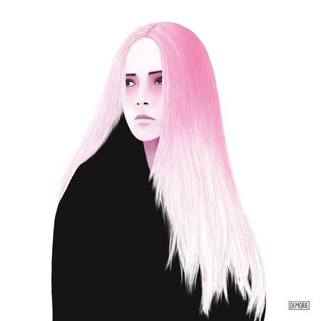 """""""At The End All Is Black"""" People Beauty Portrait Painting Drawing ArtWork Creative Printing Fashion Illustration Art Gallery Photoshop Digital Art Beautiful Woman Creativity My Artwork Watercolor Glamour Adult Aquarelle Pink Color Human Face One Young Woman Only Artgallery One Woman Only"""