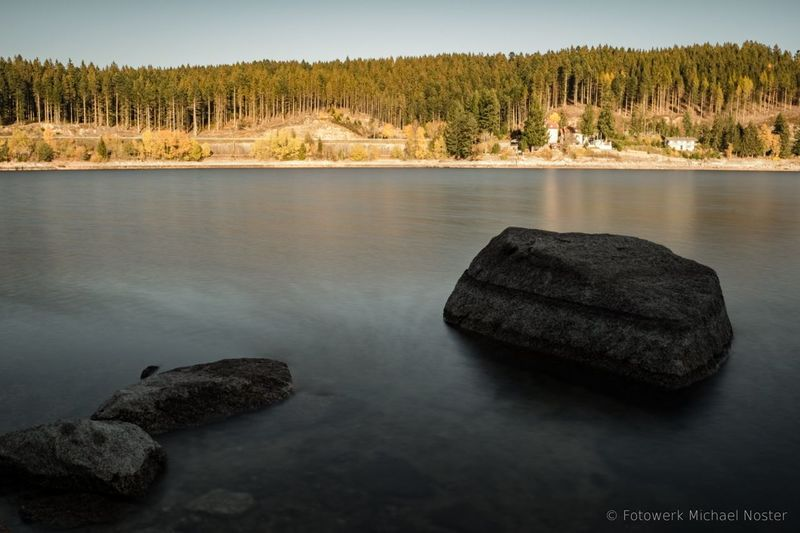 Stones And Water Stones Outdoors Forest Sunset Water Sky Nature Tranquil Scene Landscape Lake