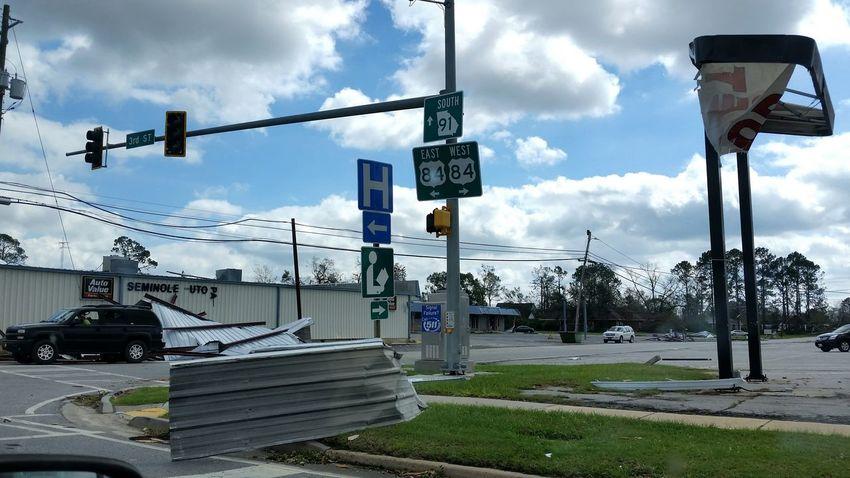 • Hurricane Michael • Hurricane Michael 2018 Wind Damage Weather Hurricane Storm Damage Extreme Weather Wind Hurricane - Storm Destruction Building Hurricane Damage Georgia