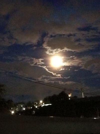 Night Illuminated Outdoors Sky Moon No People Scenics Tranquility Beauty In Nature Nature Tree City Astronomy