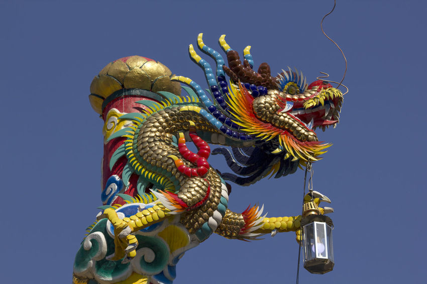 Golden dragon statue in Chinese temple Chinese Temple Ancient Architecture Golden Dragon Statue Architecture Art And Craft Chinese Dragon Chinese Temple Chinese Temple Decoration Clear Sky Craft Creativity Dragon Dragon Statue Dragon Statues Golden Dragon Golden Dragon Fly Golden Dragonfly No People Sculpture Sky Statue