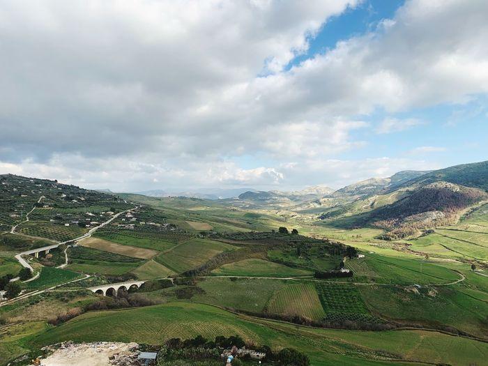 Sicily ❤️❤️❤️ Sicilia Sicily Cloud - Sky Sky Beauty In Nature Environment Landscape Scenics - Nature Tranquil Scene Nature Land Field Non-urban Scene