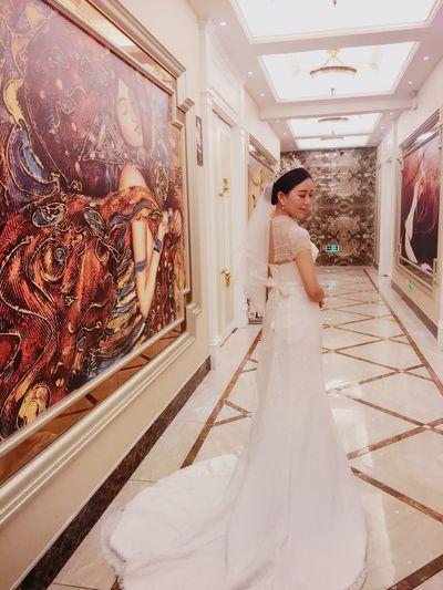 Wedding Day Bride Wedding Dress Beatiful Gorgeous