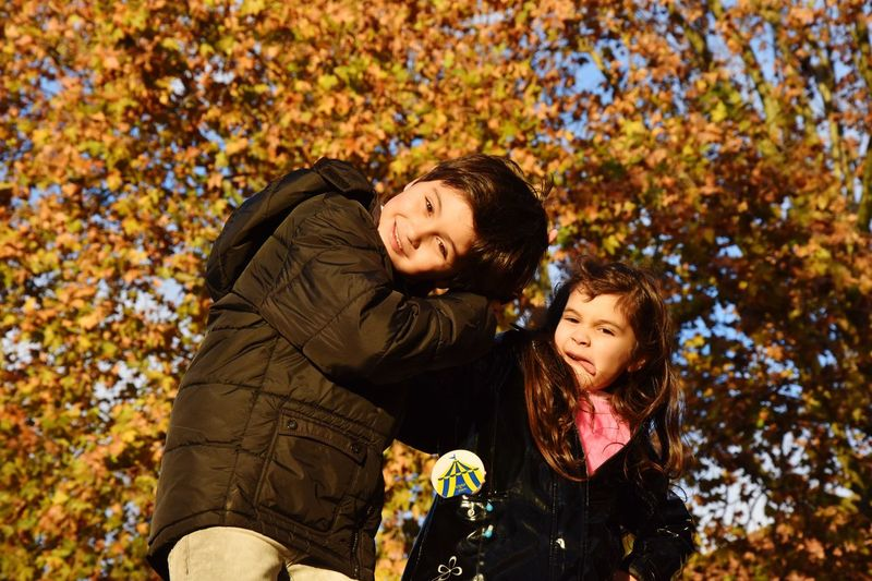EyeEm Selects Autumn Two People Child Childhood Women Emotion Togetherness Family Bonding Tree Offspring