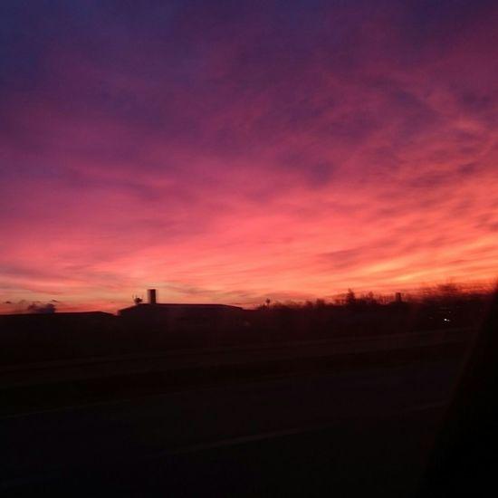 Sunset Today Winter Colors Sky Photooftheday Nofilter Beautiful Beautiful Sunset