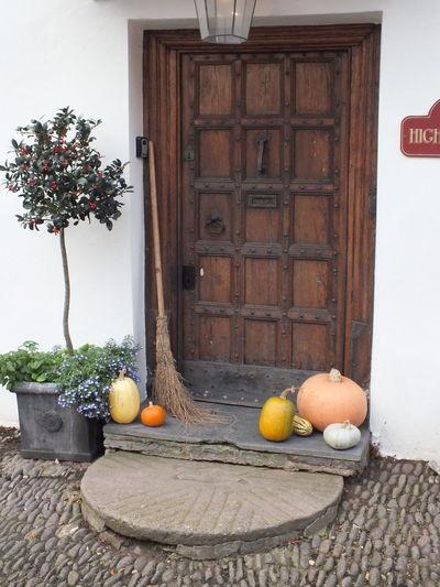 Halloween door decoration Abundance Apple Apple - Fruit Basket Day Halloween No People Outdoors Wood - Material Wooden