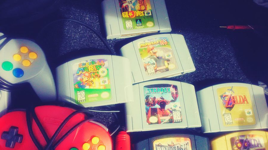 Multi Colored Choice Variation Large Group Of Objects No People Indoors  Day N64 Nintendo 64 Games People Play Mario 64