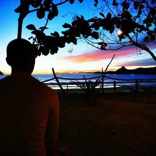 Meditating during Epic Sunset in Grupuk beach, Lombok pic by @ondra_hajek ☺🌞😍🏄👉👍🌎💓☝🌊✌ beach friends fish boat waves surfing surf sea dinner instagood instapic picoftheday traveling travel travelingindonesia travelgram