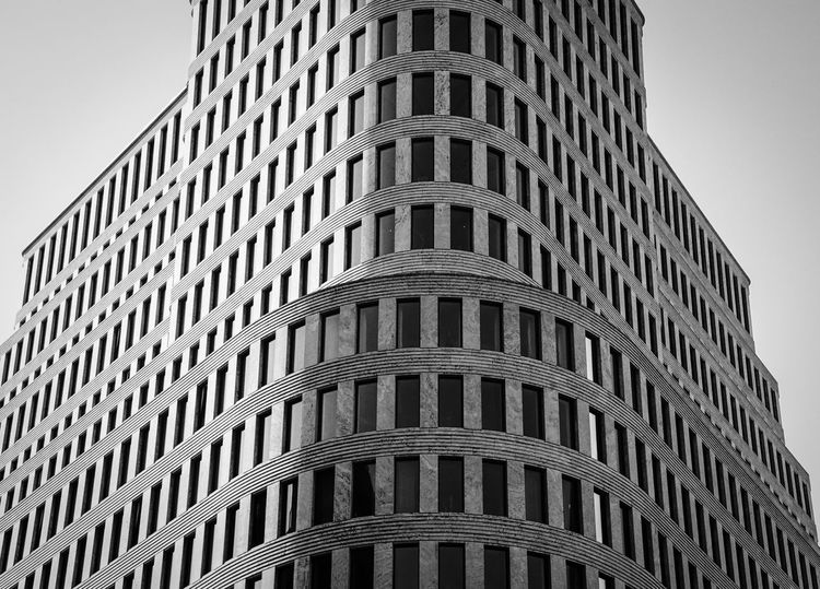 Arrangement Berlin Black And White Building Charlottenburg  Close Up Ecke Fenster Full Frame Hotel House Large Group Of Objects Low Angle View No People Office Building Outdoors Pattern Patterns Round Corner Runde Windows