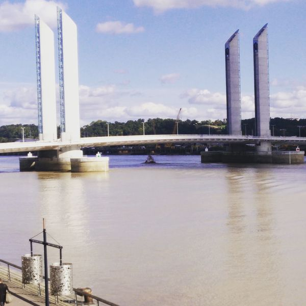 Black & White Bordeaux Garonne Bridge Pont Fleuve