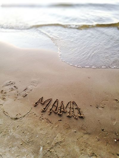 mom Love Child Nature Kids Samara Travel Life Lines Abstractart Childhood Natural Beauty Beach Water Sand Sea Text Close-up Written Handwriting  Note Wave Shore I Love You Love Letter