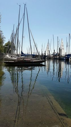 Sailboat Sailing Nautical Vessel Water Tranquility Reflection No People Outdoors Day Nature Beauty In Nature Sky Harbour Marina Sports Water Sport Harbour Life Ships Tranquil Scene Lake Lake Constance Überlingen Regatta Weekend Ship Details Patterns