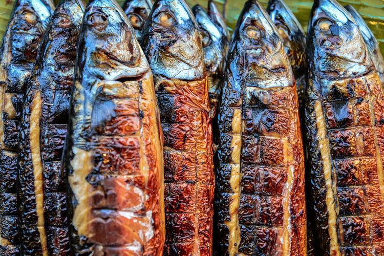 Grilled Fish Food Grilled Saba Saba Fish Seafoods ใน Thailand