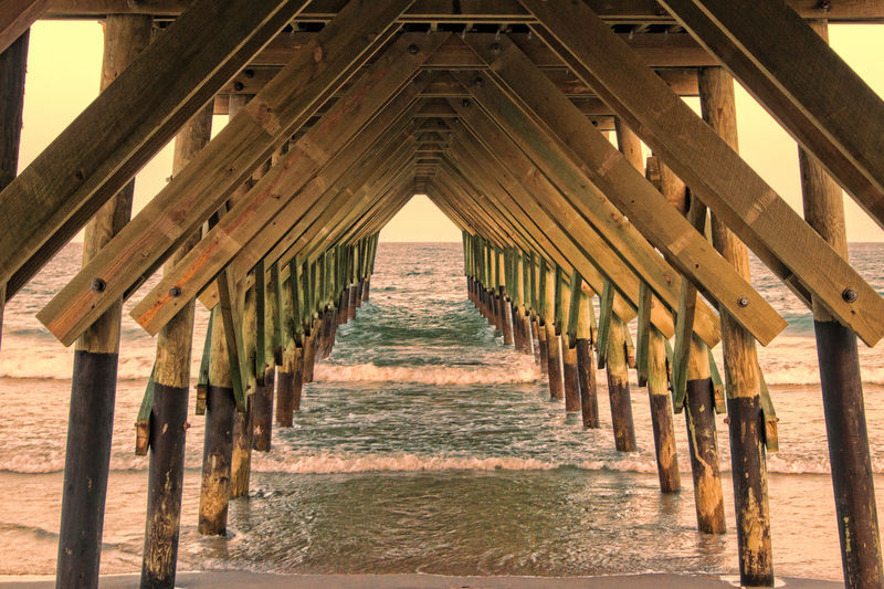 Architecture Beach Beachliving Built Structure Fishing No People Outdoors Pier The Way Forward Wrightsville Beach