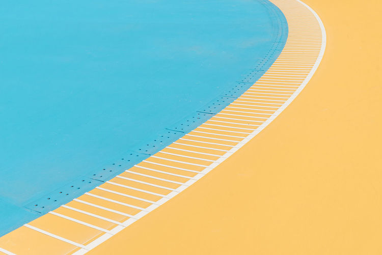 Photos from Taiwan-Trip 2017 Pastel Power Pastels Sports Field Backgrounds Blue Copy Space Full Frame High Angle View No People Pastel Pastel Colored Pastel Colors Pattern Pool Running Track Sport Field Sports Yellow