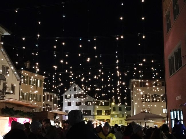 Illuminated Night Outdoors Rapperswil Winter Switzerland People Xmas Market Eyemphoto