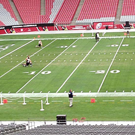 At work. Cincinnati Bengals warming up. Football Sport
