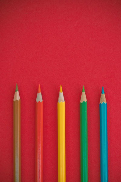 coloring pencils on a pink background Close-up Coloring Pencils No People Pink Color